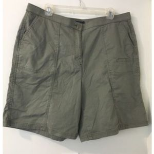 Westbound Olive Green Bermuda Shorts
